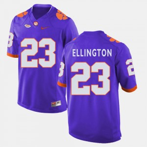 Mens Clemson #23 Andre Ellington Purple College Football Jersey 793103-804
