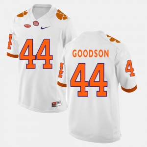 Mens Clemson Tigers #44 B.J. Goodson White College Football Jersey 907744-227