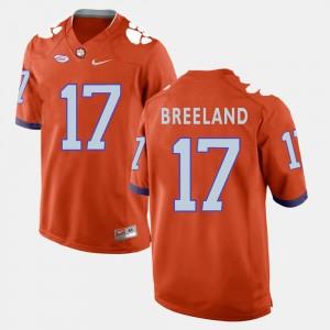For Men Clemson University #17 Bashaud Breeland Orange College Football Jersey 931801-486
