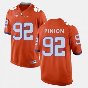 For Men Clemson #92 Bradley Pinion Orange College Football Jersey 287728-661