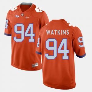 Men's Clemson #94 Carlos Watkins Orange College Football Jersey 960403-385