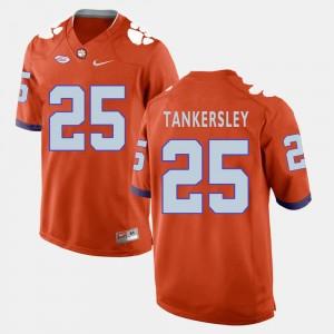 For Men's Clemson #25 Cordrea Tankersley Orange College Football Jersey 806564-154