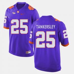 Men's Clemson National Championship #25 Cordrea Tankersley Purple College Football Jersey 509802-615