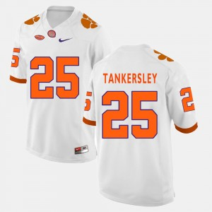Men's Clemson Tigers #25 Cordrea Tankersley White College Football Jersey 830212-854