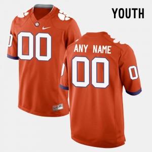 Youth(Kids) Clemson National Championship #00 Orange College Limited Football Custom Jerseys 944275-529