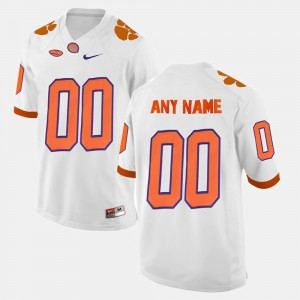 For Men Clemson #00 White College Limited Football Customized Jersey 650965-638