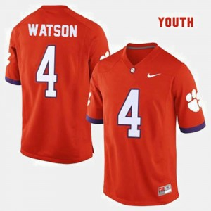 Youth Clemson Tigers #4 Deshaun Watson Orange College Football Jersey 416091-116