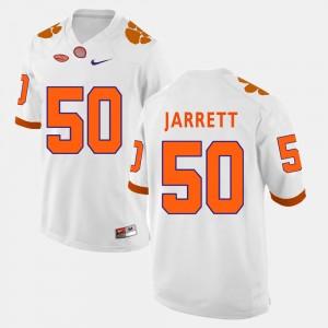 Men's Clemson Tigers #50 Grady Jarrett White College Football Jersey 295187-784