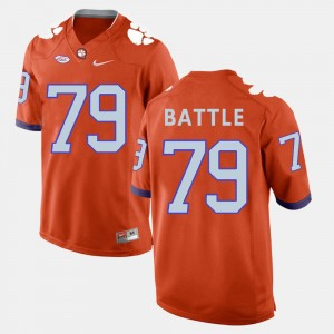 Men Clemson National Championship #79 Isaiah Battle Orange College Football Jersey 554871-876