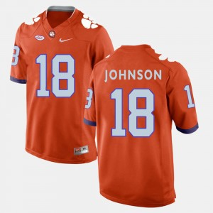 Men's Clemson University #18 Jadar Johnson Orange College Football Jersey 467445-378