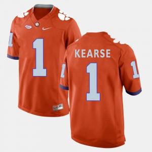 Men's Clemson University #1 Jayron Kearse Orange College Football Jersey 455625-999