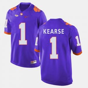 For Men Clemson #1 Jayron Kearse Purple College Football Jersey 830088-475