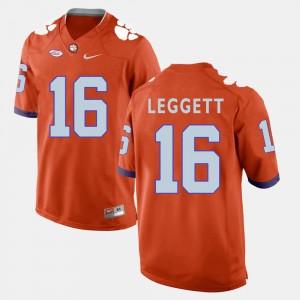 For Men Clemson University #16 Jordan Leggett Orange College Football Jersey 622626-163