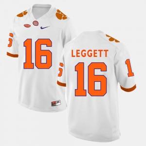 Men Clemson National Championship #16 Jordan Leggett White College Football Jersey 312610-186