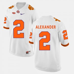 For Men's CFP Champs #2 Mackensie Alexander White College Football Jersey 758141-918