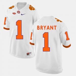 For Men's Clemson Tigers #1 Martavis Bryant White College Football Jersey 827752-685