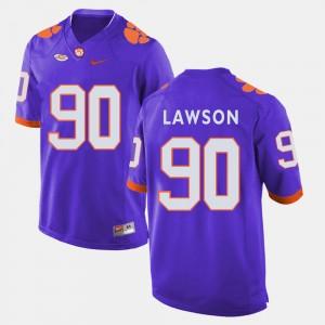 For Men Clemson National Championship #90 Shaq Lawson Purple College Football Jersey 547351-993
