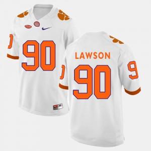 For Men's Clemson University #90 Shaq Lawson White College Football Jersey 827577-435
