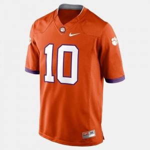 For Men Clemson National Championship #10 Tajh Boyd Orange College Football Jersey 671233-745