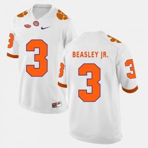 Men's Clemson #3 Vic Beasley Jr. White College Football Jersey 417845-129