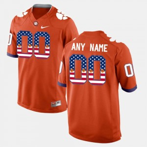 For Men's CFP Champs #00 Orange US Flag Fashion Customized Jerseys 236488-906