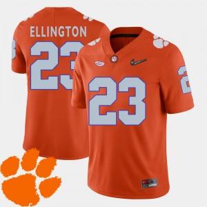 For Men's Clemson #23 Andre Ellington Orange College Football 2018 ACC Jersey 257437-859