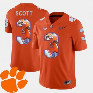 Men CFP Champs #3 Artavis Scott Orange Pictorial Fashion Football Jersey 449168-111