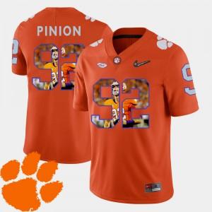 Men CFP Champs #92 Bradley Pinion Orange Pictorial Fashion Football Jersey 584589-675