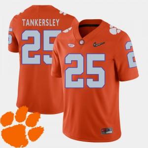 Men's Clemson #25 Cordrea Tankersley Orange College Football 2018 ACC Jersey 449485-617