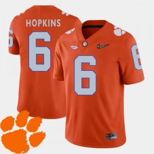 Men Clemson National Championship #6 DeAndre Hopkins Orange College Football 2018 ACC Jersey 568397-328