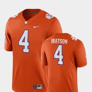 For Men Clemson National Championship #4 Deshaun Watson Orange Game College Football Jersey 220962-692