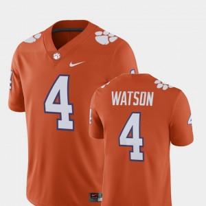 Men's Clemson University #4 Deshaun Watson Orange Alumni Football Game Player Jersey 709177-524