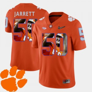 For Men's Clemson University #50 Grady Jarrett Orange Pictorial Fashion Football Jersey 249879-652