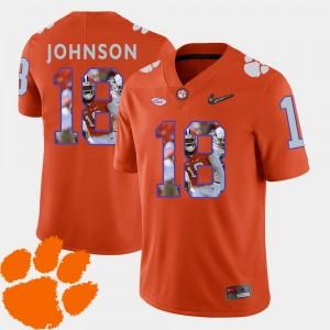 Men's Clemson #18 Jadar Johnson Orange Pictorial Fashion Football Jersey 632294-242