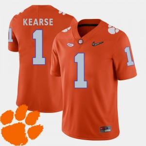Men Clemson Tigers #1 Jayron Kearse Orange College Football 2018 ACC Jersey 714727-270