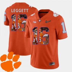 Men Clemson National Championship #16 Jordan Leggett Orange Pictorial Fashion Football Jersey 904277-659