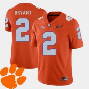 Men Clemson #2 Kelly Bryant Orange College Football 2018 ACC Jersey 486148-350
