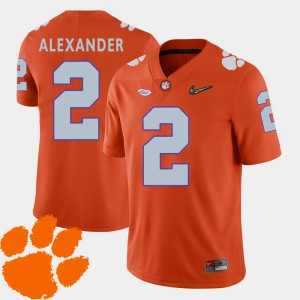 Mens CFP Champs #2 Mackensie Alexander Orange College Football 2018 ACC Jersey 168972-642