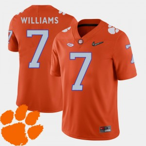 Mens Clemson National Championship #7 Mike Williams Orange College Football 2018 ACC Jersey 158619-896