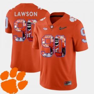 For Men Clemson Tigers #90 Shaq Lawson Orange Pictorial Fashion Football Jersey 641992-915