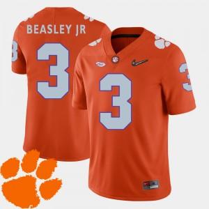 Mens Clemson University #3 Vic Beasley Jr. Orange College Football 2018 ACC Jersey 987241-268