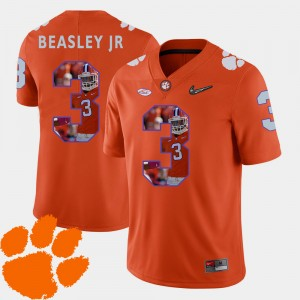 For Men's CFP Champs #3 Vic Beasley Jr. Orange Pictorial Fashion Football Jersey 118335-985