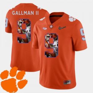 Men Clemson University #9 Wayne Gallman II Orange Pictorial Fashion Football Jersey 968250-266
