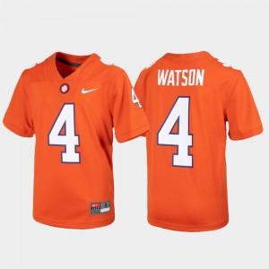 For Kids CFP Champs #4 Deshaun Watson Orange Alumni Football Game Jersey 123318-886